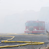 James Neiss/staff photographerNiagara Falls, NY - Niagara Falls firefighters were still battling a smoky blaze in the afternoon when a mountain of wood chips caught on fire in the morning hours at an industrial site on College Avenue between Hyde Park and Highland Avenue.