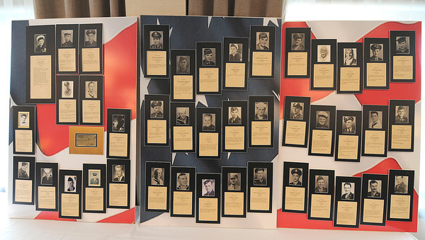 James Neiss/staff photographerNiagara Falls, NY - Members of the LaSalle Class of 1941 to 1945 honored veteran classmates who died fighting in WW2 and the Korean War during a reunion luncheon at the Four Points Sheraton hotel.