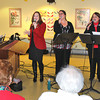 James Neiss/staff photographerNiagara Falls, NY - Buffalo Sabers organist Ken Kaufman joined up with the singing Angels, from left, Paula Venne, Emily Kearns, Betty Jackson and Michelle Farina, for a holiday showcase at the Lewiston Senior Center.