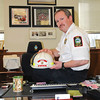 James Neiss/staff photographerNiagara Falls NY - New Niagara Falls Fire Chief Tom Colangelo in his office at the NFFD Administrative Offices.