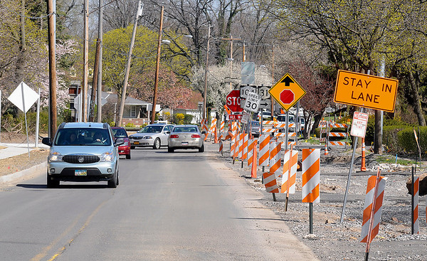 James Neiss/staff photographerNiagara Falls, NY - Large sections of Lewiston Road are still under construction.