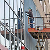 James Neiss/staff photographerNiagara Falls, NY - Carpenter Bob Bearfield, of Lockport, reflects in his work on the conversion of the old Rainbow Center Mall, into the Niagara County Community College Culinary Institute on Rainbow Boulevard.