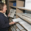 James Neiss/staff photographerNiagara Falls, NY - Joan Lenz of Niagara Falls looks for tax forms at the Earl Brydges Public Library. Tuesday is the last day to file 2011 tax returns.