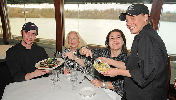 James Neiss/staff photographerLewiston, NY - Water Street Landing Chef Casey Lort, Jazz Fest Board Members Margaret Toohey, Melissa Morinello and Wine on Third Street Executive Chef Joanna Congi are ready for the Jazz & Pasta fundraiser on Sunday April 29, a benefit for the Lewiston Jazz Festival.