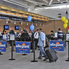 James Neiss/staff photographerWheatfield, NY - Passengers at the Niagara Falls International Airport are greeted by festive Allegiant Airline signs. The airline announced that there will be non-stop flights between Niagara Falls and Fort Lauderdale.