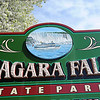 James Neiss/staff photographerNiagara Falls  - The Maid of the Mist V is featured on the signage at Niagara Falls State Park.