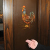 James Neiss/staff photographerNiagara Falls, NY - Pocket doors to the second floor library at the Porter Mansion on 4th Street, home of the Tatler Club, has a painted rooster recently discovered by some members.