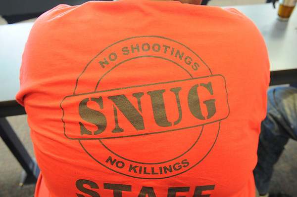 James Neiss/staff photographerNiagara Falls - Niagara Falls Operation SNUG (Gun spelled backwards) violence prevention program made a stop at Niagara Falls High School.