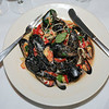 James Neiss/staff photographerLewiston, NY - Water Street Landing Chef Casey Lort cooked up dish of Mediterranean Mussel Pasta.