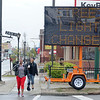 James Neiss/staff photographerNiagara Falls, NY - Large lighted signs notify the public that the street lights on Pine Avenue between 24th Street and Hyde Park are being worked on. Temporary portable lighting is in position for use during the construction period.