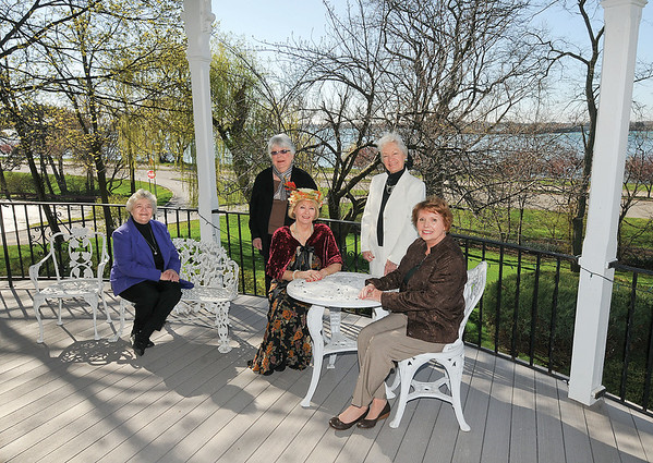 James Neiss/staff photographerNiagara Falls, NY - Tatler Inc. club representatives, from left, Marge Gillies, Margaret Rodgers, Jean Walker, Beth Waters and Pat Manarcin at the Porter Mansion on 4th Street.