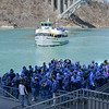 James Neiss/staff photographerNiagara Falls NY - Tourists are in position for a ride on the Maid of the Mist. The future operation of the historic tour boat company depends on New York State allowing them to build on the United States side of the Niagara Gorge.