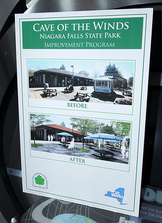 James Neiss/staff photographerNiagara Falls  -  New York State Office of Parks, Recreation and Historic Preservation officials showed off where some of the $25 million commitment to revitalize Niagara Falls State Park will go during a press conference with Parks Commissioner Rose harvey at the Niagara Falls Discovery Center.