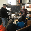 James Neiss/staff photographerNiagara Falls, NY - Former Carborundum employee Chuck Boos, one of the inventors of Silicon Carbide, shows members of Adam's Firehall Cub Scout Pack 833 a piston with virtually no resistance during a demonstration at the Niagara Science Museum.  The Niagara Science Museum held an open house on Saturday to celebrate the opening of several new laboratories in the museum.