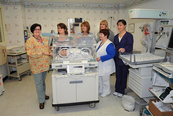 James Neiss/staff photographerLewiston, NY - Mount St. Mary's Hospital maternity staff members, from left, Nursing Manager Karen Conlon, RN, Anna Aguglia, PA, Sibilla Strovers, RN, Office Manager Sandra Boyd, Regina MacNeil, LPN and Ann Clingersmith, RN, are on the job and ready to provide services.
