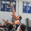 James Neiss/staff photographerSanborn, NY - Niagara County Community College basketball player #15 Connor Vandergriff puts the ball up during the first half of basketball action against Jamestown.
