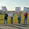 James Neiss/staff photographerTown of Niagara, NY - Animal Allies of WNY rallied supporters to speak out against mismanagement, neglect and mass killings of healthy companion animals at the Niagara SPCA outside the Rainbow Animal Shelter on Lockport Road.