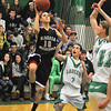120124 NW L-P HoopsJames Neiss/staff photographerLewiston, NY - Niagara Wheatfield #10 Christopher Galvano puts the ball up during the first quarter of basketball action against Niagara Wheatfield.
