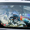 James Neiss/staff photographerNiagara Falls, NY - Hoarder Car: A car that is filled almost to the brim with debris, was found parked in a City parking lot on Portage Road next to the YMCA.