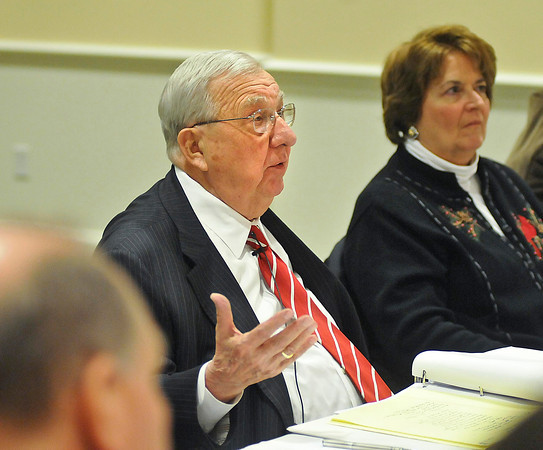 James Neiss/staff photographerGrand Island, NY - Chairman Robert J. Kresse asks Lewiston Supervisor Steve Reiter questions about the Joseph Davis State Park improvement project during a Niagara River Greenway Commission meeting at the Beaver Island State Park Casino. The commission determined that the Joseph Davis State Park phase 1 capital improvement project is consistent with the Niagara River Greenway plan.
