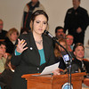 James Neiss/staff photographerWheatfield, NY - Morgan Dunbar, director of Animal Allies of WNY recommends that an independent agency study the problems at the Niagara SPCA, because of direct connections through board members of both agencies. Dunbar and members of the public had the opportunity to make comments during the Town of Wheatfield board meeting on Monday.
