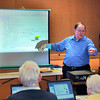 120112 AARP Tax Class 1 - NGJames Neiss/staff photographerNiagara Falls, NY - AARP Tax-Aide Program local coordinator Ken Greulich trains volunteers in preparation for this years free tax assistance at local senior centers and libraries starting Feb. 1. The service is free and appointments can be made by calling the individual locations that include: The John Duke Senior Center on Monday, Tuesday, Wednesday and Friday; the Lewiston Library on Tuesdays; the Lewiston Senior Center on Fridays; the Wilson Free Library on Monday's and the Grand Island Senior Center on Monday's, said Greulich.