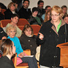 120109 SPCA Protest 1 - NGJames Neiss/staff photographerWheatfiled, NY - Niagara SPCA volunteer and member of Animal Rights Advocates Donna Miller, right, criticizes Morgan Dunbar, director of Animal Allies of WNY, left, for comments she made about personnel at the Niagara SPCA. Miller and several others spoke during the public comments session of the Town of Wheatfield board meeting on Monday.
