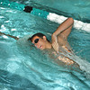 James Neiss/staff photographerNiagara Falls, NY - Lewiston-Porter swimmer Eric Ebers practices with his team.