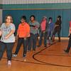 "James Neiss/staff photographerNiagara Falls, NY - Joan ""Lady J"" Harris, right, teaches the Wednesday dance class a few line dance moves at the Doris W. Jones Resource Building."