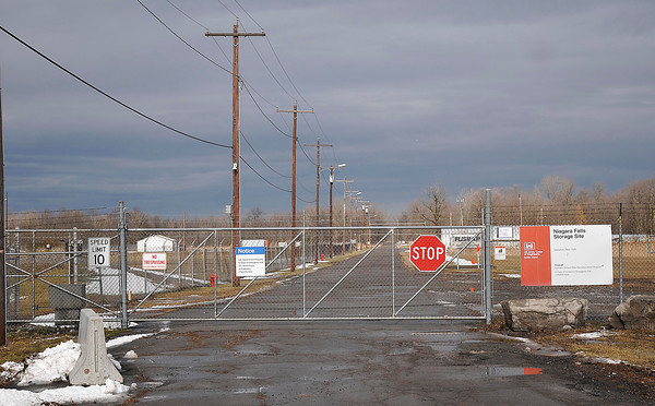 James Neiss/staff photographerLewiston, NY - Entrance to the Lake Ontario Ordinance Works site in Lewiston of Pletcher Road.