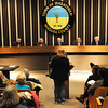 James Neiss/staff photographerWheatfield, NY - An animal rights advocate addresses the Wheatfield Town Board regarding the Niagara SPCA during the public comments session.