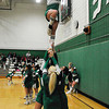 James Neiss/staff photographerLewiston, NY - Lewiston-Porter Cheerleaders hold Sam Mahar, 16, way up high to show their school spirit during a basketball game against Niagara Wheatfield. Giving her a hand up are, from left, Dana Davies, Marlene Smith, Courtney Wilson and Amy Ventry. The team is coached by Sue Truitt.
