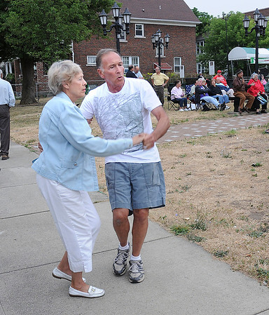 James Neiss/staff photographerNiagara Falls, NY - Carol and Lou Colca dance to the 50's sounds of Kathy Lynn and the Playboys during a concert at Columbus Square Park on Pine Avenue, part of the Pine Avenue Business Association Summer Concert Series.