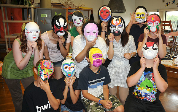 James Neiss/staff photographerLewiston, NY - Students participating in the Confucius Institute summer camp at Lewiston-Porter Intermediate, sponsored by Lew-Port and the University at Buffalo, made Beijing Opera Masks as part of the course.