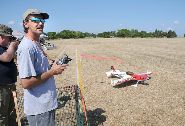 James Neiss/staff photographerNiagara Falls, NY - Ang Leo of Niagara Falls taxies his Funtana 125 RC Plane for takeoff during the Fly Over Niagara Radio Control & Control Line Combat Airshow at Reservoir State Park. The event continues Sunday from 10 a.m. - 4 p.m. and is open to the public.