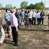 James Neiss/staff photographerLewiston, NY - John Busse, environmental Project Management Team Leader, right, speaks with members of the Lake Ontario Ordnance Works (LOOW) Community Action Council and public officials before a guided tour of the Niagara Falls Storage Site on Pletcher Road, controlled by The Army Corps of Engineers Buffalo District. The LOOW CAC is a group of public stakeholders who have gathered to work with the Corps to find a resolution to the problem of having a radioactive storage site in the Town of Lewiston.