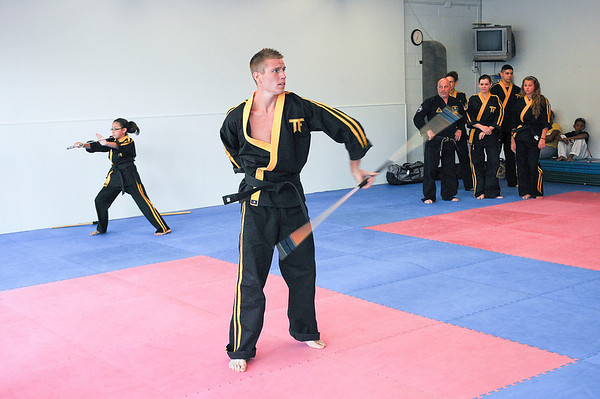 James Neiss/staff photographerNiagara Falls, NY - Greg Bullock of Niagara Falls, trains with team Members of the Presti Karate Center. Members are heading to Las Vegas to take part in the United Fighting Artists Federation Chun Kuk Do International Training Conference and World Championships.