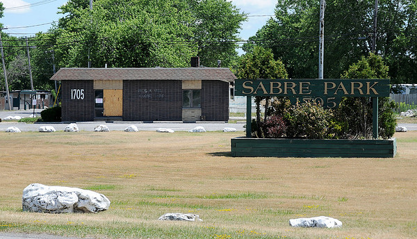 James Neiss/staff photographerNiagara Falls, NY - A suspicious fire at the Sabre Park administration building is still under investigation.