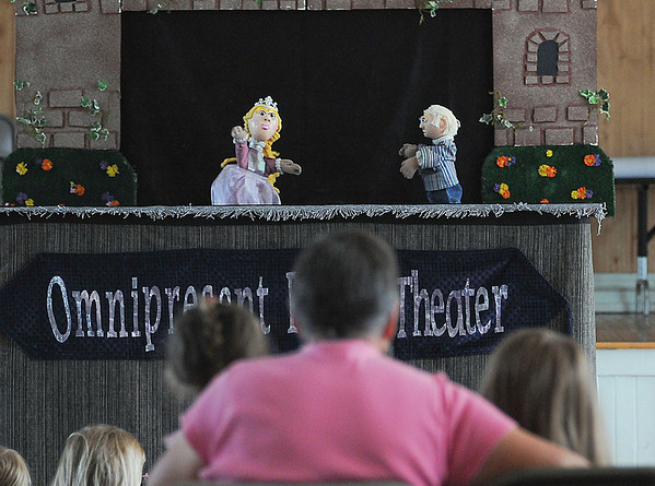 James Neiss/staff photographerYoungstown, NY - The Omnipresent Puppet Theatre featuring puppeteer Donald Kruszka, made a stop to the Youngstown Free Library to perform Sleeping Beauty. The Puppet Theater is making stops at many local libraries including Lockport at 6:30 p.m. on August 1, Grand Island at 2 p.m. on August 2 and Lewiston at 6 p.m. on August 6.