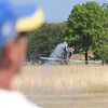 James Neiss/staff photographerNiagara Falls, NY - Rich Sabin of the Town of Niagara, does a little stunt flying with his TREX 700 RC helecopter during the Fly Over Niagara Radio Control & Control Line Combat Airshow at Reservoir State Park. The event continues Sunday from 10 a.m. - 4 p.m. and is open to the public.