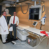 James Neiss/staff photographerNiagara Falls, NY - Interventional Radiologist Sadashiv Shenoy, M.D, and Mark D. Perry, M.D., a Niagara Falls Memorial Medical Center board member and chief of the medical center's Department of Radiology, celebrate the completion of a new $1.4 million Interventional Radiology suite.