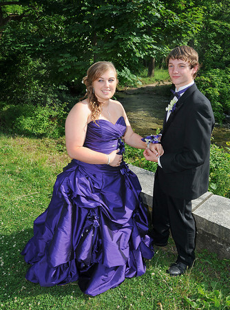James Neiss/staff photographerNiagara Falls, NY - Niagara Falls High School senior Irene Barry gets a corsage from her prom date Matthew Grace during a stop at Three Sisters Island for some photos with classmates. The Niagara Falls High School held the 2012 Senior Prom at The Conference Center Niagara Falls on Old Falls Street.