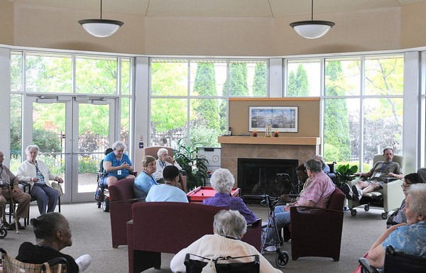 James Neiss/staff photographerNiagara Falls, NY - Complete Senior Care program of HANCI clients enjoy the atrium.