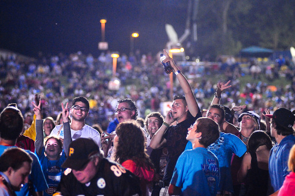 James Neiss/staff photographerNiagara Falls, NY - Fans cheer for daredevil wire-walker Nik Wallenda who made history by walking his high-wire across the Niagara Gorge from the U.S. to Canada.