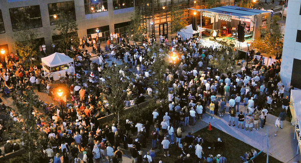 Niagara Falls -  A packed house enjoys the evening portion of the Niagara Falls Blues Festival on September 10th, 2011 on Old Falls Street.<br /> Photo By: Dan Cappellazzo