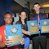 James Neiss/staff photographerNiagara Falls, NY - Brandi Hunt of NFHS, left, Francesca Costanzo, center and Adam Winkworth, right, of Niagara Catholic High School, along with Joe DiFrancesco of NFHS, not shown, were named as Kiwanis Athletes of the Year. The Kiwanis Club of Niagara Falls honored area athletes and coaches during The 27th Annual High School Sports Appreciation Luncheon at Niagara Falls High School.