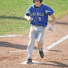 James Neiss/staff photographerNiagara Falls, NY - Grand Island baseball player #5 Kevin Dobson brings in the first run during the Far West Regional Playoff Game against Honeyoye Falls-Lima at Sal Maglie Stadium.