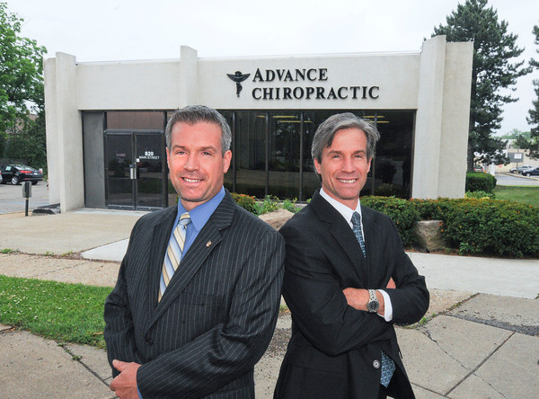 James Neiss/staff photographerNiagara Falls, NY - Chiropractors and twin brothers Doug and Donald Monteleone of Advance Chiropractic on Main Street.