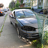 James Neiss/staff photographerNiagara Falls, NY - Niagara Falls Police, said a man jumped from a moving vehicle in the 400 block of 4th Street, crashing the car and its passenger into a fence. An officer, said the passenger was lucky they were not impaled.