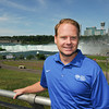 James Neiss/staff photographerNiagara Falls, NY - The setting is ready for wire-walker Nik Wallenda at Terrapin Point on Goat Island. Wallenda will make history when he crosses a 2 inch diameter cable from the U.S. to Canada on Friday night.